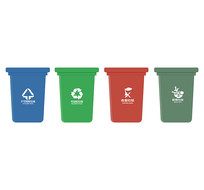 垃圾分类垃圾桶png