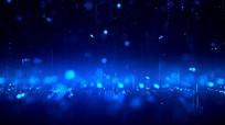 蓝色粒子颁奖背景视频素材