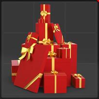 礼品盒圣诞节电商网商元素