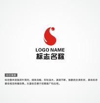 时尚简洁大气水logo