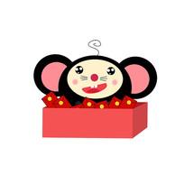鼠年卡通老鼠装饰红包元素