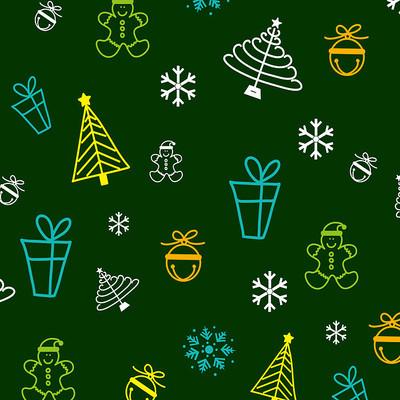 圣诞节绿色装饰底纹元素