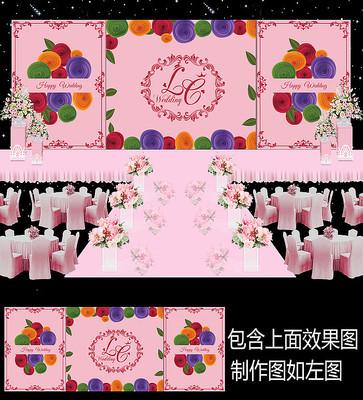 时尚花卉婚礼背景