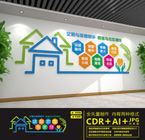 文明城市和谐社区文化墙
