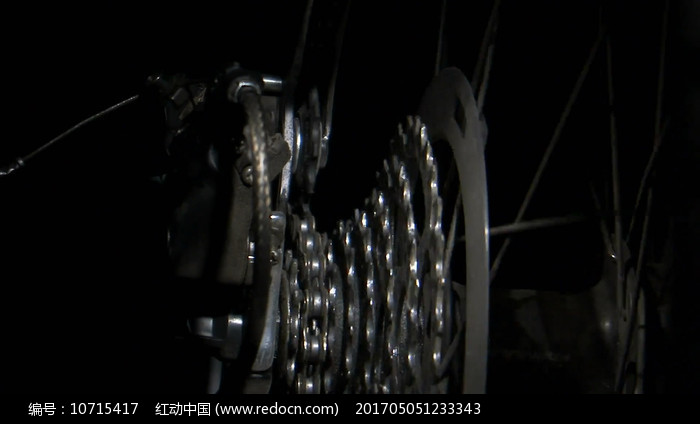 变速自行车链条转动视频素材图片