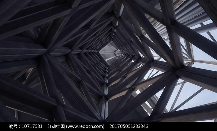 建筑钢架结构视频素材图片