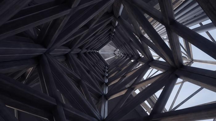 建筑钢架结构视频素材