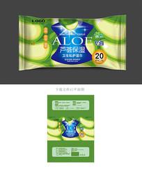 芦荟湿巾包装