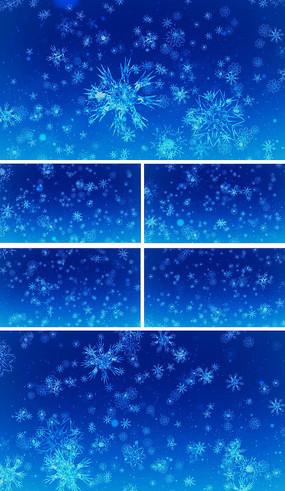 雪花飘落舞台背景视频素材
