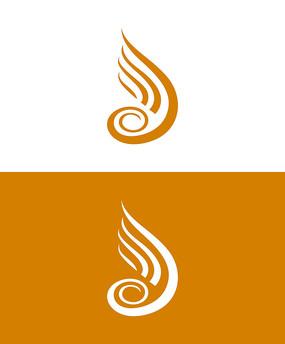 翅膀元素Logo设计