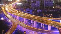 大都市立体交通车流行驶视频素材