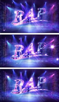 饶舌说唱动感闪烁舞台背景视频素材