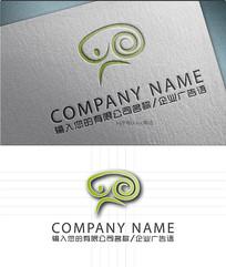 人体奔跑艺术logo标志设计