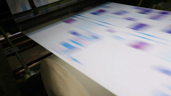 印刷机工业印刷视频素材