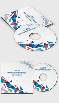 个性蓝色三角形光盘封面设计