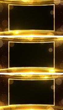 金色年会颁奖视频边框通道元素视频素材