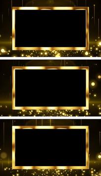 金属质感年会颁奖视频边框通道视频素材