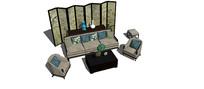 古典中式沙发家具SU模型