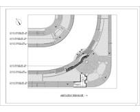 曲型节点圆形广场平面方案