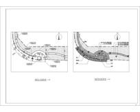 曲型亲水木平台方案平面