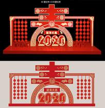 2020鼠年春节美陈商场美陈雕塑小品