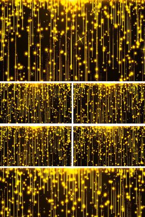 金色粒子瀑布晚会开场背景视频素材