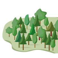 树林植物绿色树木森林元素