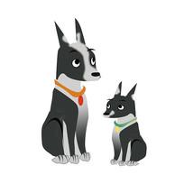 装饰狗手绘卡通狗元素