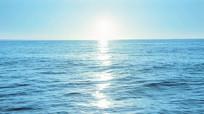 大海海面阳光海浪视频素材