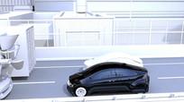 汽车模型城市行驶视频素材