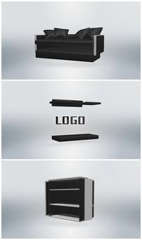 简洁家具变化logo片头AE视频模板