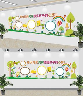原创可爱幼儿园文化墙展板设计