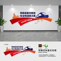 铁路宣传标语文化背景墙