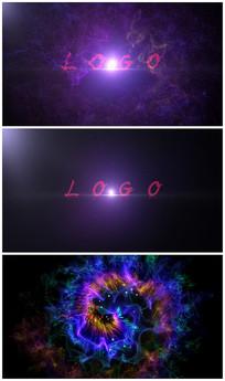 唯美炫酷粒子绽放logoAE视频模板