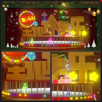 圣诞节快乐海报圣诞节灯光元素