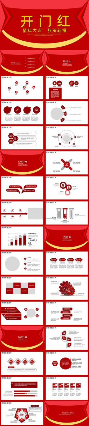 2020年开门红工作计划PPT模板