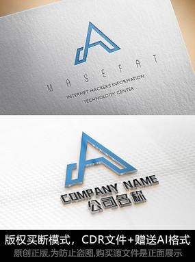 A字母logo标志公司商标设计