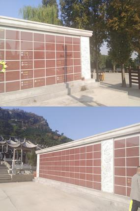 陵园景观壁葬立体葬施工图和效果图