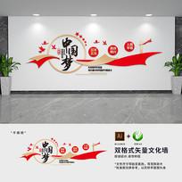 中国梦党建标语形象文化墙