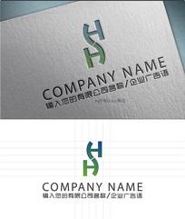 h字母LOGO标志设计