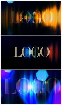 简洁粒子logo彩色AE视频模板