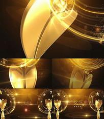 金色大气颁奖晚会开场片头AE视频模板