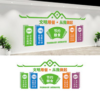 企业校园食堂文化墙设计