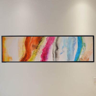 艺术轻奢手绘抽象床头客厅装饰画