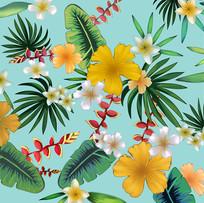 小清新花朵插画背景底图