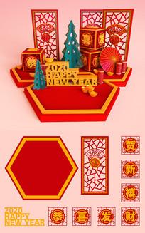 中式新年美陈设计