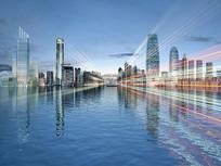 城市流光动画场景