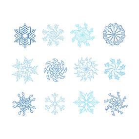 冬季雪花冬天雪花元素