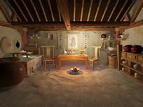古代中式室内场景
