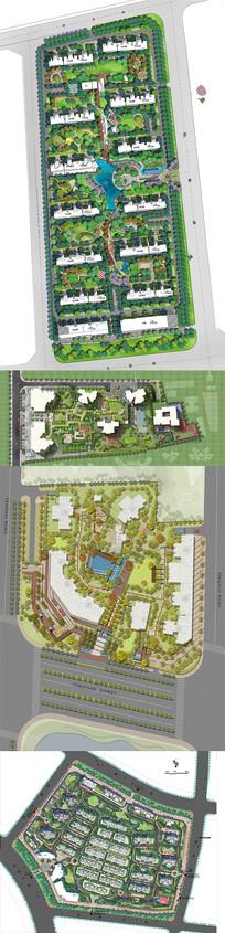细分层PSD住宅楼小区景观绿化规划源文件